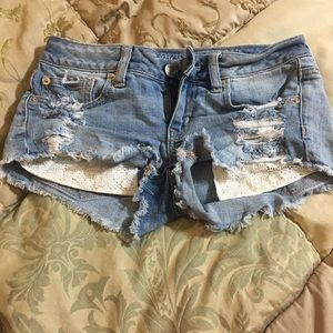 Shortie cut off shorts